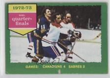 1973-74 Topps #191 1972-73 NHL Quarter-Finals Hockey Card