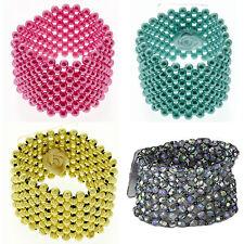 Classique de mariée fleur mariage bal corsage pearl cuff bead bracelet