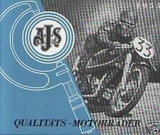 A.J.S. PROSPEKT 1955 ENGLAND MODELL 20 16M 18 C CS 16MS AJS LONDON OLDTIMER