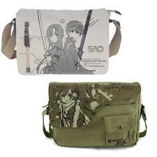 Anime Sword Art Online SAO Kirito Asuna Canvas Bag Messenger Shoulder Satchel