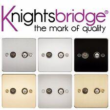 Knightsbridge PIATTA DOPPIA TV SAT Satellite Presa Coassiale Isolato Piastra