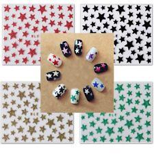 Nailart Glitter Sterne Sticker Aufkleber für Nageldesign 3D Farben zur Auswahl
