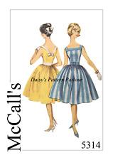 Vintage Sewing Pattern 1950s Full Skirt Swing Dress Rockabilly McCalls 5314 1950
