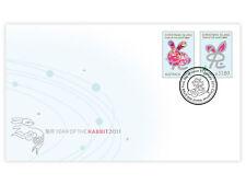 Christmas Island 2011 Year of Rabbit 2-Stamp set Fdc