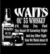 Tom Waits Inspired T-Shirt  Waits Ol' 55 Whiskey Homage T-Shirt