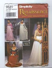 Simplicity 9531 OOP Medieval Renaissance Dress Pattern