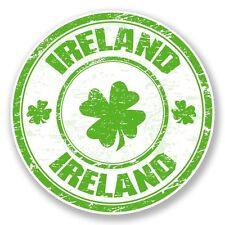 2 x Ireland Vinyl Sticker Laptop Travel Luggage Car #6789
