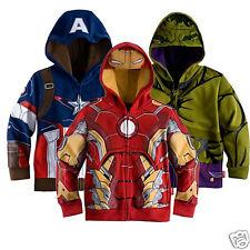 De Niño Chaqueta Con Capucha Iron Man Captain America Casco Niños Traje