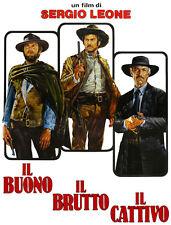 El Bueno El Malo Y El Feo Italiano Cartel Camiseta. Cine Película Tee. 13 Tamaños
