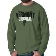 Vermont Original Souvenir Tourist State VT Long Sleeve Tees Shirts T-Shirts