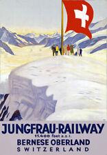 R25 Vintage Jungfrau Swiss Switzerland Railways Travel Poster Re-Print A4