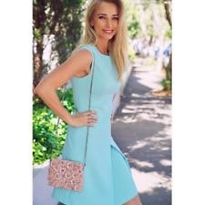 Karen Millen DA138 Pastel Green Women's Casual Pleated Mini Dress UK SIZE 6To16