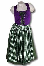 Sheego  Dirndl  Trachten Kleid  Gr 46 48 50 52 58  lila grün  Baumwolle  neu