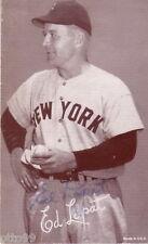 ED LOPAT NY YANKEES SIGNED ORIGINAL 47-66 EXHIBIT CARD JSA COA WHITE SOX ORIOLES