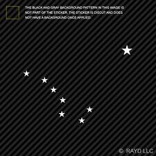 Big Dipper Alaska Sticker Die Cut Decal constellation