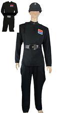 Imperial Officer Black Uniform + Belt + Cap + Ranks costume Set Star Wars