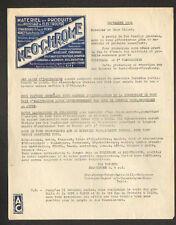 "STRASBOURG (67) MATERIEL & PRODUITS pour POLISSAGE & ELECTROLYSE ""NEO-CHROME"""