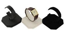 Cuero sintético o Terciopelo Vertical Reloj Pulsera Brazalete c-clip soporte de exhibición (bd101)