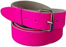 Pink Real leather Hi Viz Belt With Free Buckle small Medium Large xl xxl