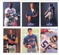 91-92 PL New York Giants Set LAWRENCE TAYLOR JEFF HOSTETLER FRANK GIFFORD SIMMS
