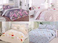 Floral Duvet Cover 100% Cotton Soft Bedding Set Reversible Queen/King