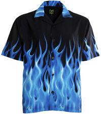 Benny's Blue Flames Bowling Shirt