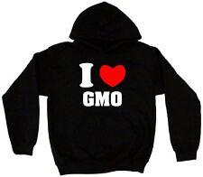 I Heart Love GMO Men's Hoodie Sweat Shirt Pick Size Small-5XL