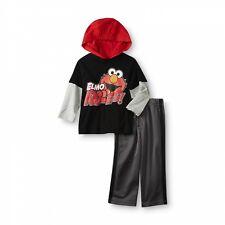 Sesame Street Toddler Elmo Rules Boy's Hoodie Long Sleeve Shirt & Pants  4T NWT