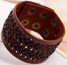 Cuir Véritable Bracelet Bracelet Band Bracelet Noir Marron Bracelet A27-A28