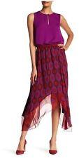 Diane Von Furstenberg Parry Petite Amethyst Maxi Asymmetric Silk Skirt $328 S, M