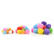 100 gemischte FLUFFY Filz Pom Poms Ball verschiedene Farben Handwerk DIY WH