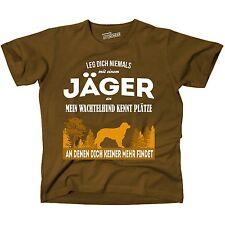 T-shirt marron chasseur wachtelhund allemand chiens places trouve chasse siviwonder