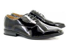 Niños Goor Charol Negro Oxford Zapatos con Cordones