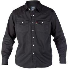 DUKE vaqueros camisas Negro en TALLA 1xl to 6xl