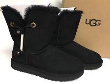 Ugg Australia MAIA leather drawstring metal beads suede boot 1017496 Black