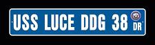 USS LUCE DDG 38 DLG 7 Street Sign U S  Navy USN