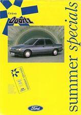 Ford Orion Quartz Mk3 Limited Edition Summer 1991 UK Market Leaflet Brochure