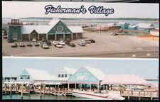 GRASONVILLE MD Fisherman's Inn Seafood Market Crab Deck Maryland Postcard PC