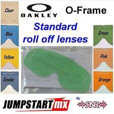 Oakley O Frame Goggle Roll Off Lens Clear Blue Yellow Smoke  Pink Orange RNR MX