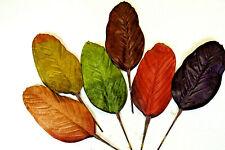 12 Deko Blätter 44 cm. Herbst Laubblatt Basteln Floristik künstlich Dekor K 61
