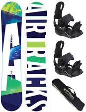Snowboard Set AIRTRACKS Aero Rocker+Bindung Star oder Master+Bag/148 153 158 163