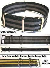 NYLON UHRENARMBAND DURCHZUGSUHRENARMBAND Schwarz / Grau oder Gelb / Blau