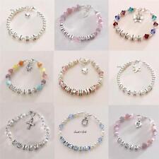 Sterlingsilber Name Armbänder für Mädchen, personalisiert Kinder Schmuck