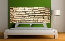 Sticker tête de lit décoration murale Mur de pierre réf 3658 (5 dimensions)