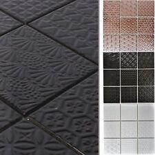 die K/üche und das Badezimmer Wandfliesen Ideal f/ür den Wohnbereich Fliesen-Bord/üre Boden-Fleisen Mosaikfliesen Keramik Istria Schwarz Mosaik-Fliesen auch als Muster erh/ältlich