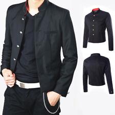 Men's Single Breasted Long Sleeve Jacket Blazer Japanese School Uniform Slim Fit