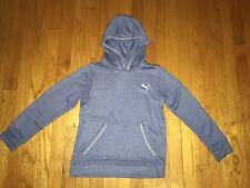Puma Kids Sweatshirt Hoodie Hood Hooded Youth Blue/Red Heather Free Shipping