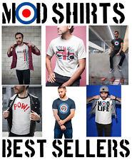 Mens MOD T-Shirts Retro Target 60s 70s Lambretta Scooter SKA Northern Soul Music