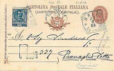 ITALIA REGNO INTERO POSTALE con AFFRANCATURA MISTA 1902