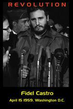 Fidel Castro in Washington DC April 1959 poster print